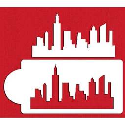 View the NEW YORK CITY SKYLINE 2 pc cake icing stencil set online at Cake Stuff