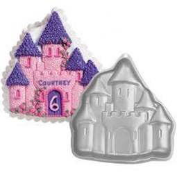 View the Enchanted Fairytale Princess Castle cake tin pan online at Cake Stuff