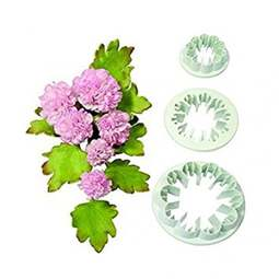 View the **PROMO** carnation 3 pc fondant icing cutter set online at Cake Stuff