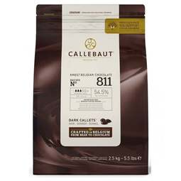 View the 1kg finest Belgian DARK chocolate callets chips - 53.7% no. 811 online at Cake Stuff