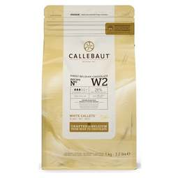 View the 1kg Finest Belgian WHITE chocolate callets chips - no. W2 online at Cake Stuff