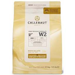 View the 2.5kg Finest Belgian WHITE chocolate callets chips - no. W2 online at Cake Stuff