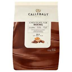 View the 2.5kg MILK bakestable Belgian chocolate chunks online at Cake Stuff