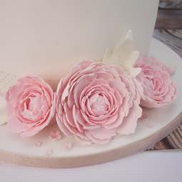 View the EASIEST PEONY EVER with LEAF 3 pc icing flower cutter set online at Cake Stuff