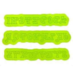 View the SWIRLY UPPER CASE alphabet silicone icing mould online at Cake Stuff