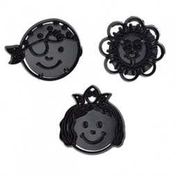 View the FUN FACES 3 pc icing sugarcraft cutter set online at Cake Stuff