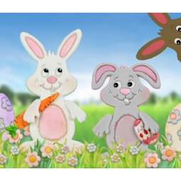 View the BUNNY 10 pc icing sugarcraft cutter set online at Cake Stuff