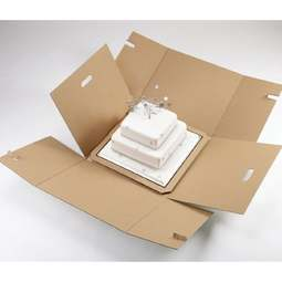 "View the 10"" / 12"" stacked cake transportation box - 16"" high online at Cake Stuff"