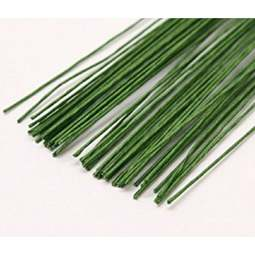 View the 28 gauge DARK GREEN sugarcraft floristry wire - pk 50 online at Cake Stuff