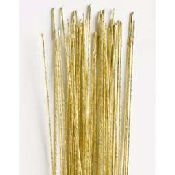 View the 22 gauge GOLD metallic sugarcraft floristry wire - pk 25 online at Cake Stuff