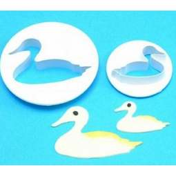 View the Duck / Swan / Bird 2 piece icing cutter set online at Cake Stuff