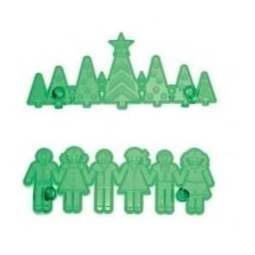 View the Christmas Tree & Children Border Frieze fondant icing cutter set online at Cake Stuff
