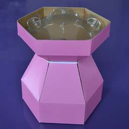 View the PINK Cupcake Bouquet Box with insert tray - holds 7 cupcakes online at Cake Stuff