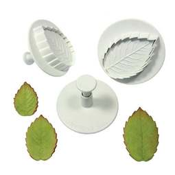View the Rose Leaf 3 piece plunger icing cutter set online at Cake Stuff