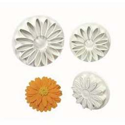 View the Sunflower / Gerbera / Daisy 3 pc plunger icing cutter set online at Cake Stuff