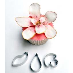 View the SINGAPORE ORCHID 3 pc stainless steel icing cutter set online at Cake Stuff