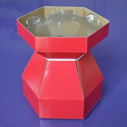 View the RED Cupcake Bouquet Box with insert tray - holds 7 cupcakes online at Cake Stuff