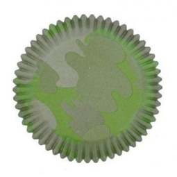 View the CAMOUFLAGE cupcake cases baking cups - pk 75 online at Cake Stuff