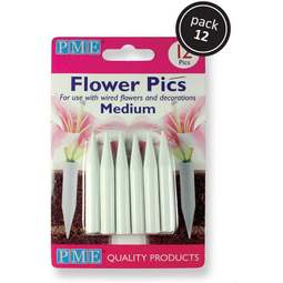 View the pack of 12 MEDIUM Posy Picks / Pics / Flower Spikes online at Cake Stuff