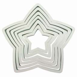 View the 6 pc STAR icing & pastry cutter set online at Cake Stuff
