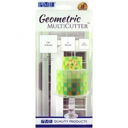 View the 3 pc SQUARE Geometric Multicutter icing cutter set online at Cake Stuff