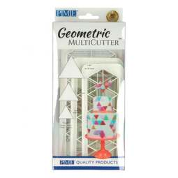 View the 3 pc EQUILATERAL TRIANGLE Geometric Multicutter icing cutter set online at Cake Stuff