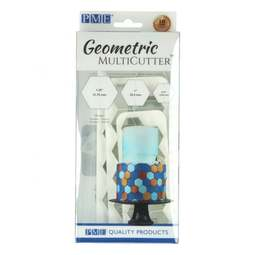 View the 3 pc HEXAGON Geometric Multicutter icing cutter set online at Cake Stuff