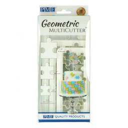 View the 3 pc PUZZLE Geometric Multicutter icing cutter set online at Cake Stuff