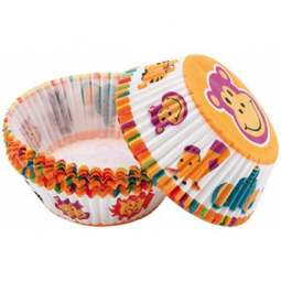 View the JUNGLE PALS cupcake cases baking cups - pk 75 online at Cake Stuff