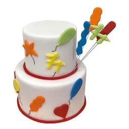 View the PARTY BALLOONS 8 pc icing & gumpaste Tappit cutter set online at Cake Stuff