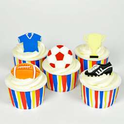 View the GET SPORTY 5 pc icing & gumpaste Tappit cutter set online at Cake Stuff