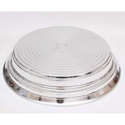 "View the SILVER BRIGHT ROUND 16"" / 406mm wedding cake stand base plinth online at Cake Stuff"