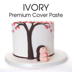 View the 5kg / 11lb IVORY Premium Cover Paste sugarpaste ready to roll fondant icing online at Cake Stuff