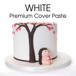 View the 5kg / 11lb WHITE Premium Cover Paste sugarpaste ready to roll fondant icing online at Cake Stuff