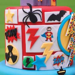 View the SUPERHERO 12 pc fondant icing cutter set online at Cake Stuff