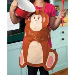 View the Kids' Cheeky Monkey shaped cotton apron online at Cake Stuff