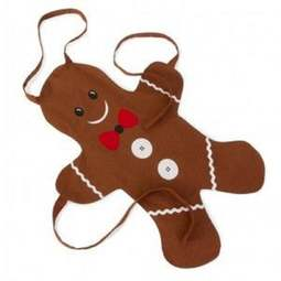 View the Kids' Gingerbread Man shaped cotton apron online at Cake Stuff