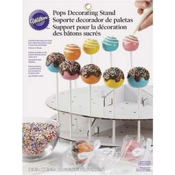 View the 2 tier cardboard Cake Pops display stand - holds 44 pops online at Cake Stuff