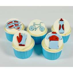 View the Cycling Motifs icing & gumpaste 5 pc Tappit cutter set online at Cake Stuff