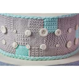 View the Patchwork Quilt silicone icing sugarcraft mould online at Cake Stuff