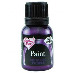 View the PURPLE metallic edible icing paint 25ml online at Cake Stuff