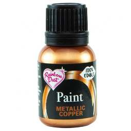 View the METALLIC COPPER edible icing paint 25ml online at Cake Stuff