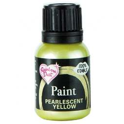 View the PEARLESCENT YELLOW edible icing paint 25ml online at Cake Stuff