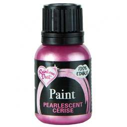 View the PEARLESCENT CERISE PINK edible icing paint 25ml online at Cake Stuff