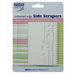 View the set 4 patterned icing side scrapers online at Cake Stuff