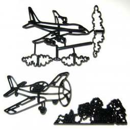 View the 5 piece AEROPLANES icing sugarcraft cutter set online at Cake Stuff