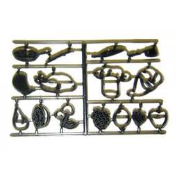 View the FRUIT & UTENSILS 15 pc icing sugarcraft cutter set online at Cake Stuff