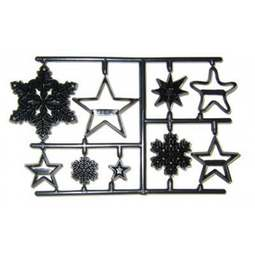 View the SNOWFLAKES & STARS 9 pc icing sugarcraft cutter set online at Cake Stuff