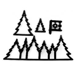 View the FESTIVE FOREST 5 pc icing sugarcraft cutter set online at Cake Stuff