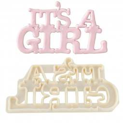 View the IT'S A GIRL - Curved Words icing cutter set online at Cake Stuff